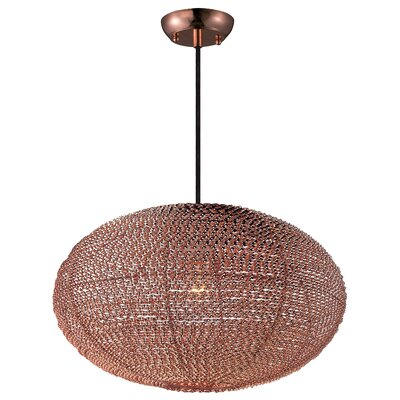 Camile 1-Light Globe Pendant Finish: Copper
