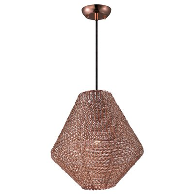 Camile 1-Light Schoolhouse Pendant Finish: Copper