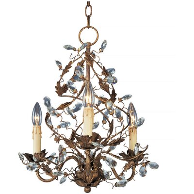 Kaiya 3-Light Candle-Style Chandelier Finish: Etruscan Gold