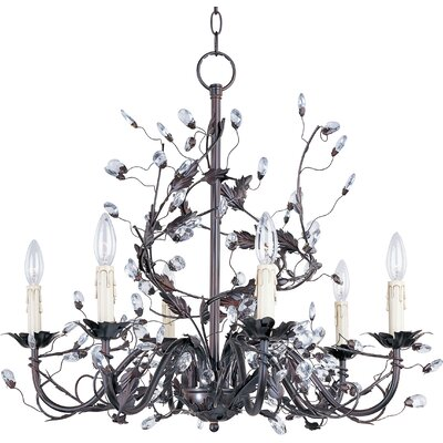Kaiya 6-Light Candle-Style Chandelier Finish: Oil Rubbed Bronze