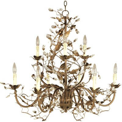 Kaiya 9-Light Candle-Style Chandelier Finish: Etruscan Brown
