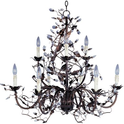 Kaiya 9-Light Candle-Style Chandelier Finish: Oil Rubbed Bronze