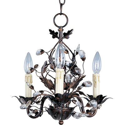 Kaiya 3-Light Candle-Style Chandelier Finish: Oil Rubbed Bronze