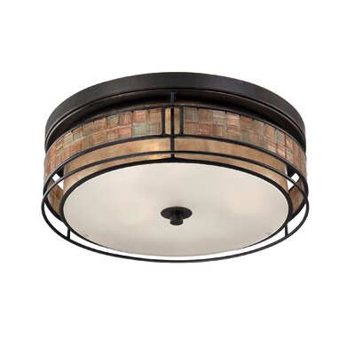 Allandale 2-Light Flush Mount Size: 16 W x 16 D