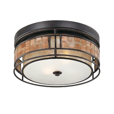 Allandale 2-Light Flush Mount Size: 12 W x 12 D