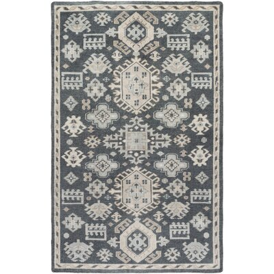 Heidi Ivory/Slate Area Rug Rug Size: Rectangle 6 x 9