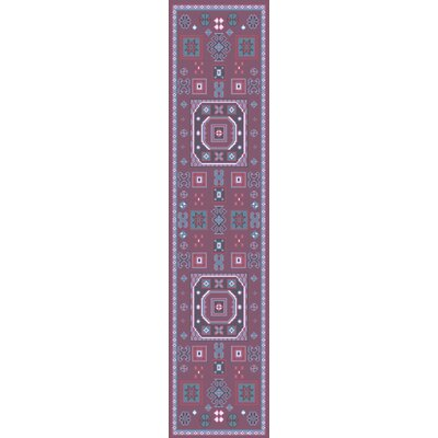 Heidi Purple/Pink Area Rug Rug Size: Runner 26 x 8
