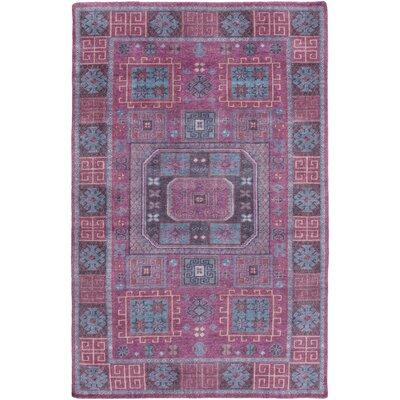 Heidi Purple/Pink Area Rug Rug Size: 4 x 6