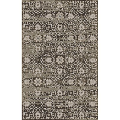 Halima Olive/Gray Area Rug Rug Size: Rectangle 56 x 86
