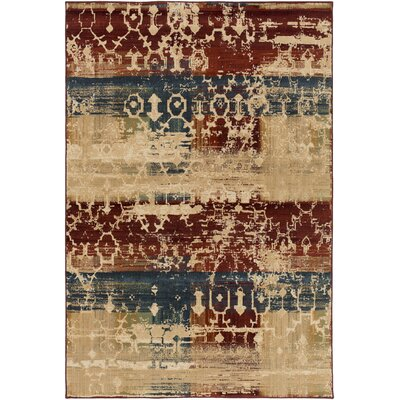 Argentine Olive/ Burgundy Area Rug Rug Size: Rectangle 710 x 910