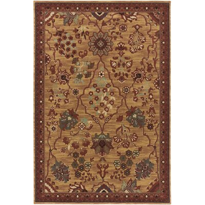 Argentine Burgundy Area Rug Rug Size: Rectangle 67 x 96