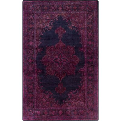 Arensburg Hand-Tufted Dark Purple/Navy Area Rug Rug size: 5 x 8