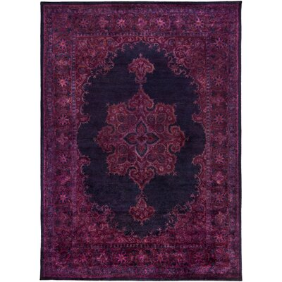 Mykonos Hand-Tufted Dark Purple/Navy Area Rug Rug Size: Rectangle 8 x 11