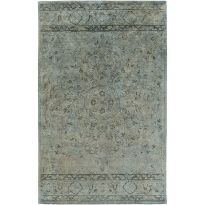 Arensburg Hand-Tufted Sage Area Rug Rug size: 33 x 53