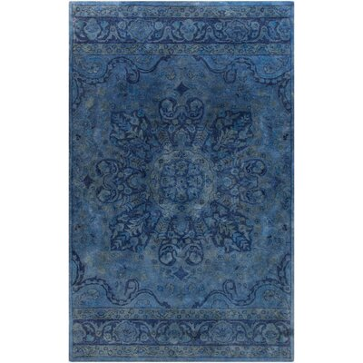 Arensburg Hand-Tufted Navy Area Rug Rug size: 33 x 53