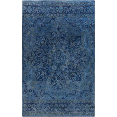 Arensburg Hand-Tufted Navy Area Rug Rug size: 5 x 8