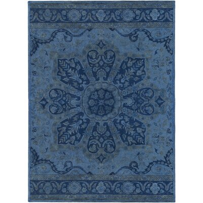 Arensburg Hand-Tufted Navy Area Rug Rug size: 8 x 11
