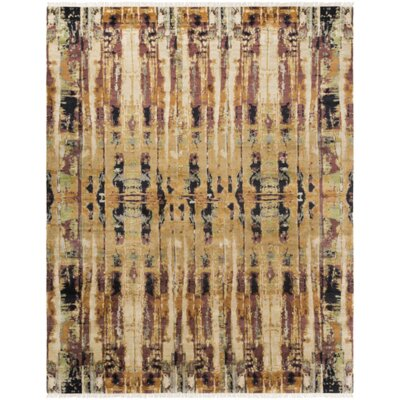Bowman Hand-Knotted Area Rug Rug size: Rectangle 8 x 10