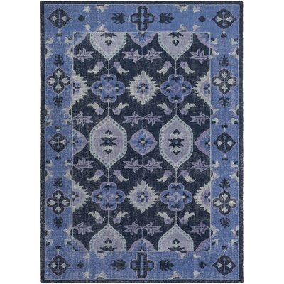 Drachten Hand-Knotted Navy/Dark Blue Area Rug Rug size: Rectangle 8 x 11