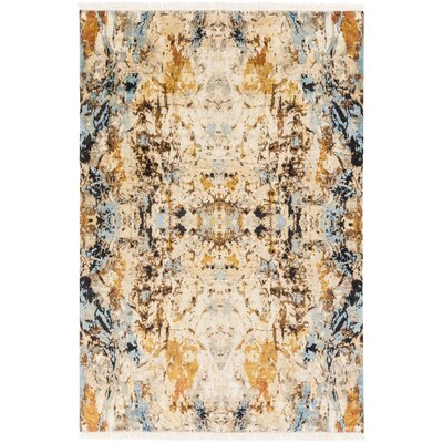 Bowman Hand-Knotted Area Rug Rug size: Rectangle 9 x 13