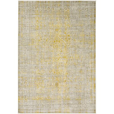 Bria Mustard/Taupe Area Rug Rug size: Rectangle 76 x 106