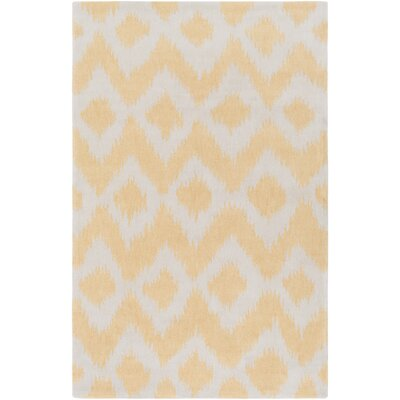 Arbuckle Hand-Tufted Butter/White Area Rug Rug Size: 2 x 3