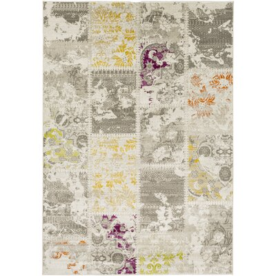 Anil Gray Area Rug Rug size: Rectangle 76 x 106