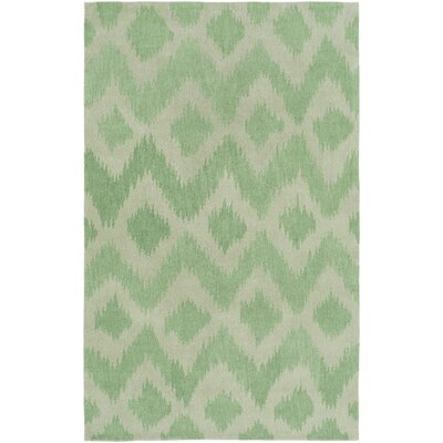 Arbuckle Hand-Tufted Grass Green/Moss Area Rug Rug Size: 76 x 96