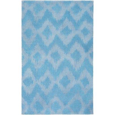 Arbuckle Hand-Tufted Sky Blue/Sky Blue Area Rug Rug Size: 3 x 5