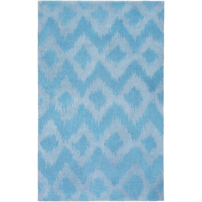 Arbuckle Hand-Tufted Sky Blue/Sky Blue Area Rug Rug Size: 76 x 96