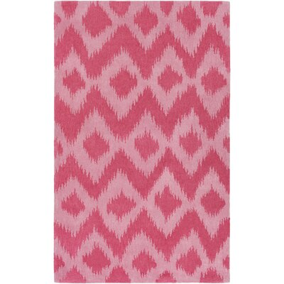 Arbuckle Hand-Tufted Coral/Pale Pink Area Rug Rug Size: 5 x 76