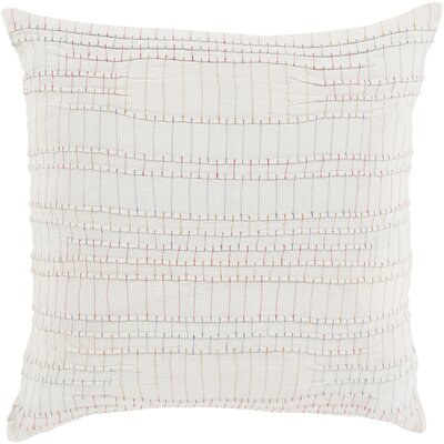 Jefferson Throw Pillow Cover Size: 22 H x 22 W x 0.25 D, Color: RedOrange