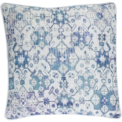 Inara Cotton Pillow Cover Size: 18 H x 18 W x 1 D, Color: Blue
