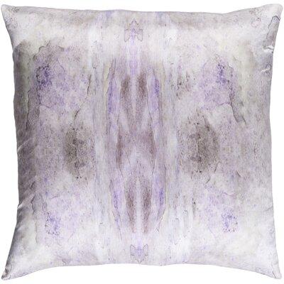 Antram Silk Throw Pillow Color: Purple/Neutral, Size: 22 H x 22 W x 4 D