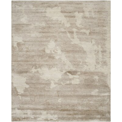 Arnots Hand-Knotted Beige Area Rug Rug Size: 10 x 14
