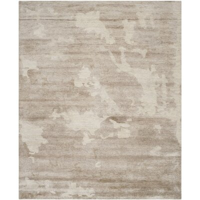 Kirzia Hand-Knotted Beige Area Rug Rug Size: Rectangle 6 x 9