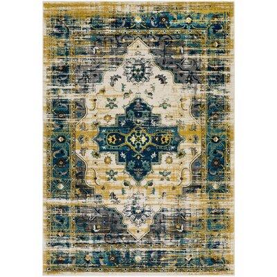 Koh Blue/Black Area Rug Rug Size: 2 x 3