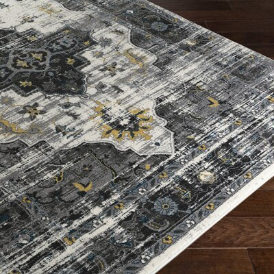 Koh Charcoal/Black Area Rug Rug Size: Rectangle 53 x 76