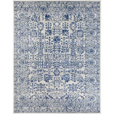 Hillsby H-Woven Blue Area Rug Rug Size: Rectangle 53 x 73