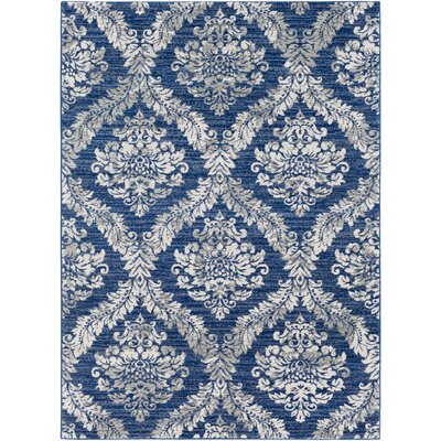 Hillsby Blue/Gray Area Rug Rug Size: Rectangle 2 x 3
