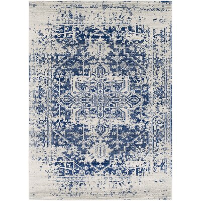 Hillsby Oriental Blue/Beige Area Rug Rug Size: Rectangle 53 x 73