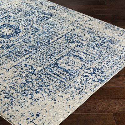 Hillsby Blue/Beige Area Rug Rug Size: Rectangle 93 x 126