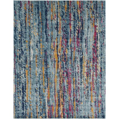 Andover Blue/Orange Area Rug Rug Size: 2 x 3