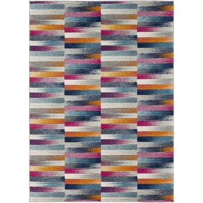 Andover Orange/Blue Area Rug Rug Size: Rectangle 2 x 3