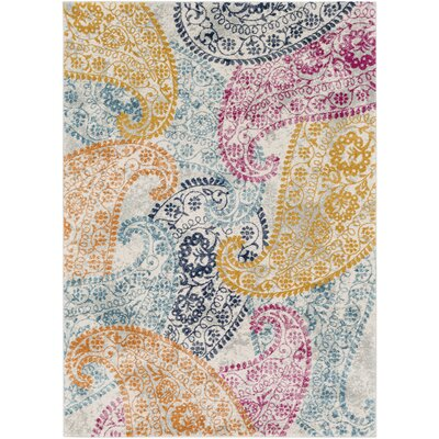 Hillsby Yellow/Blue Area Rug Rug Size: Rectangle 2 x 3