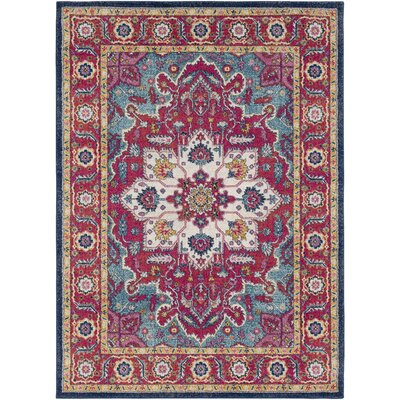 Hillsby Floral Pink Area Rug Rug Size: Rectangle 2 x 3