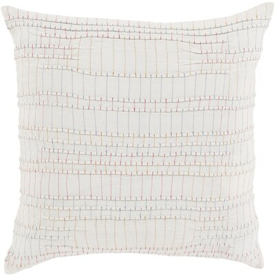 Jefferson Throw Pillow Size: 18 H x 18 W x 4 D, Color: Cream, Fill Material: Down