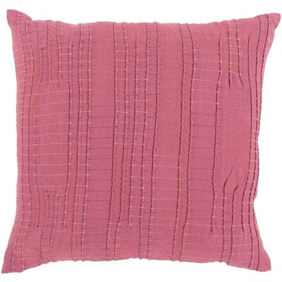 Arbaaz Throw Pillow Size: 18 H x 18 W x 4 D, Color: Burnt Orange, Fill Material: Down