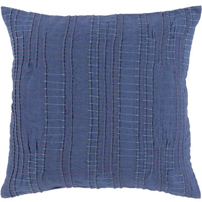 Jefferson Throw Pillow Size: 18 H x 18 W x 4 D, Color: Dark Blue, Fill Material: Down