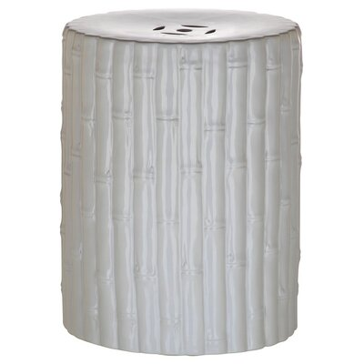 Arroyo Bamboo Garden Stool Color: White